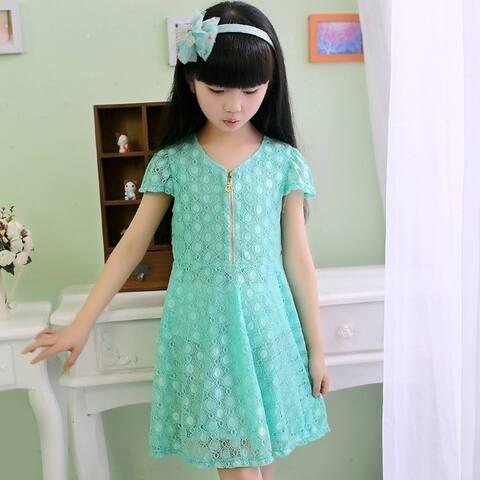 Summer Wear Dress Fashion Lace Princess Dress Girls Skirts