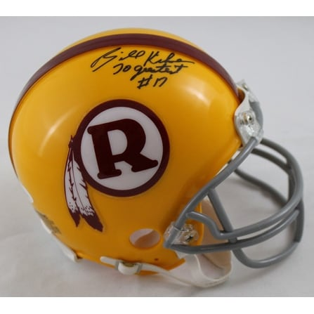 23af126a Billy Kilmer Autographed Washington Redskins Mini Helmet Yellow 70 Greatest  JSA
