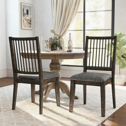 Furniture of America Ucklum Grey Side Chairs (Set of 2)