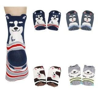 Women's Cute Art Cartoon Colorful Casual Crew Cotton Animal Socks