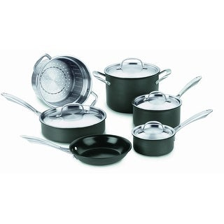 Cuisinart GG-10 GreenGourmet Hard-Anodized Nonstick 10-Piece Cookware Set