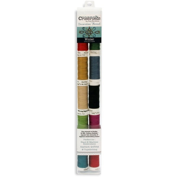 Crossroads Sulky Cotton Petites 12 Weight 10/Pkg-Winter Collection