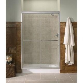 Kohler K 702208 G54 Fluence Frameless Bypass Shower Door With Falling Lines  Glass