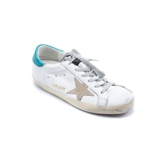 Golden Goose Women's Teal & White Super Star Sneakers