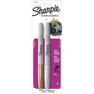 Sharpie Metallic Fine Point Permanent Markers 2/Pkg-Gold & Silver