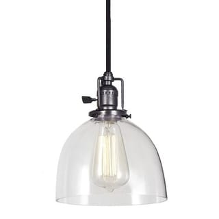 JVI Designs 1200-18-S5 1 light Down Light Pendant with Clear Glass Shade from the Union Square collection