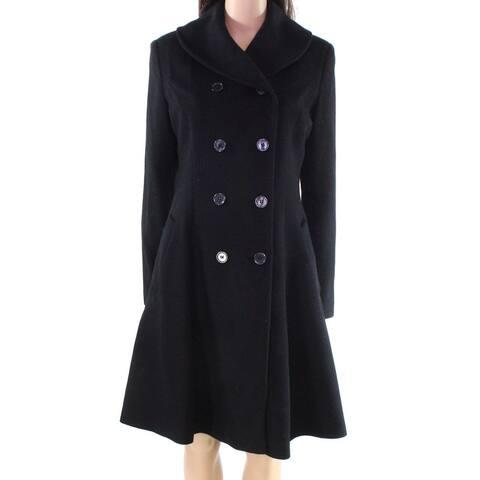 Lauren by Ralph Lauren Women Coat Black Size 10 Double-Breasted Peacoat