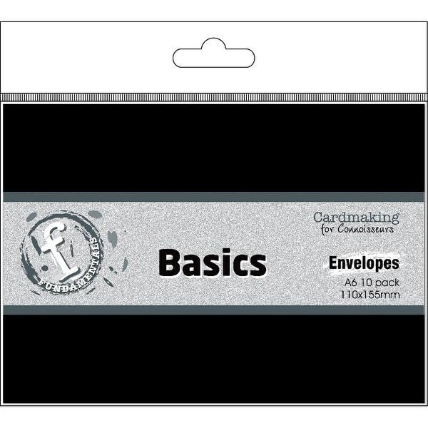 Fundamentals Cardmaking A6 Envelopes 10/Pkg-Black