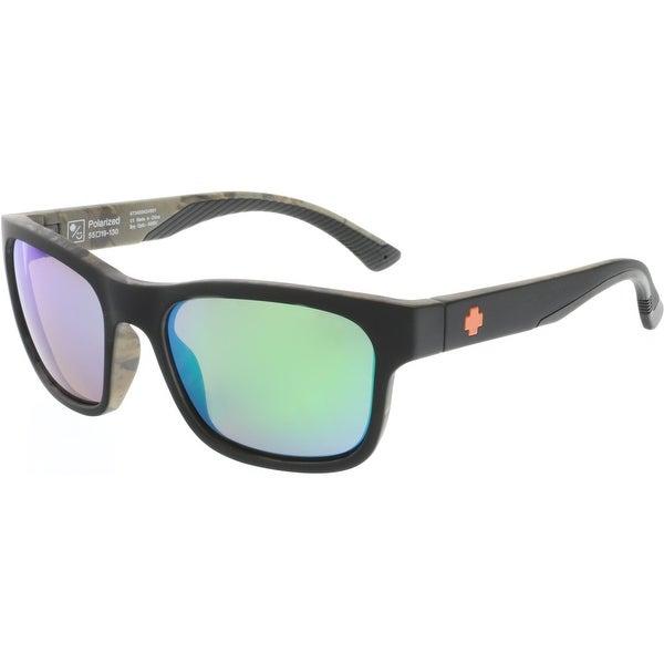 b1990abf29b78 Spy Men  x27 s Polarized Hunt 673469424861 Black Rectangle Sunglasses