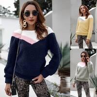 Fuzzy Fleece Long Sleeve Pullover Sweatshirt Top