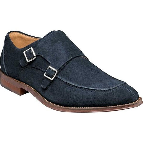 7c793e50decd Shop Stacy Adams Men s Balen Moc Toe Double Monk Strap Navy Suede - On Sale  - Free Shipping Today - Overstock - 22866155