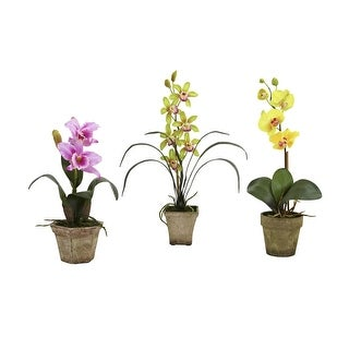 Nearly Natural Potted Orchid Mix - Set of 3 - ortment2