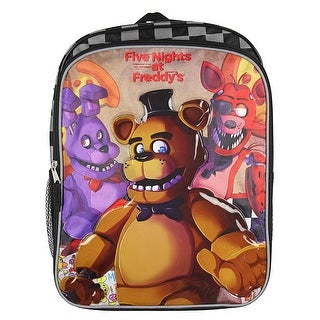 "Five Nights at Freddy's 16"" Backpack with Side Mesh Pockets - One Size Fits Most"