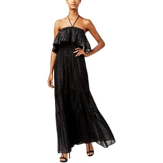 MICHAEL Michael Kors Womens Maxi Dress Metallic Halter - m
