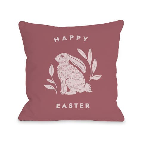 Easter Bunny With Stripes - Throw Pillow