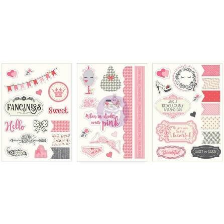 """Julie Nutting Cardstock Stickers 5""""X7"""" 3/Pkg-"""