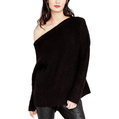 Rachel Rachel Roy Womens Pullover Sweater Wool Blend One-Shoulder