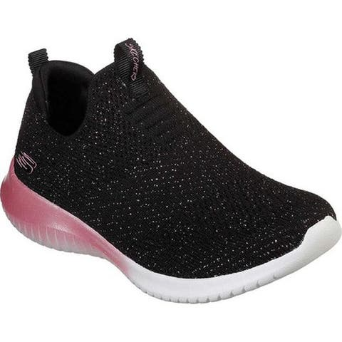 Skechers Girls' Ultra Flex Metamorphic Slip-On Sneaker Black/Rose Gold
