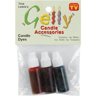 Violet; Turquoise & Melon - Gelly Candle Dye Assortment .1Oz 3/Pkg