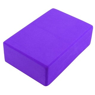 Gym Athletic Training EVA Foam Rectangle Shaped Pilates Yoga Block Brick Violet