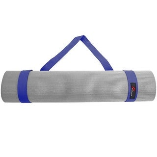 ProsourceFit Yoga Mat 100% Durable Cotton Easy-Cinch Sling Carry Strap Harness Carrier - Navy - Blue - 38l x 1w