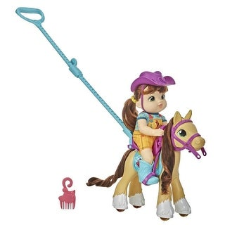 Link to Littles By Baby Alive, Lil' Pony Ride, Little Mandy Doll And Pony With Push-Stick, Toy For Kids 3 Years Old And Up Similar Items in Dolls & Dollhouses
