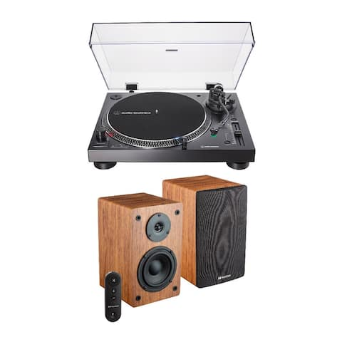 Audio-Technica AT-LP120X-USB USB Turntable (Black) Bundle