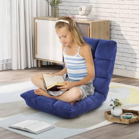 Lazy Sofa Chair Adjustable Floor Sofa Chair Fabric Upholstered Folding