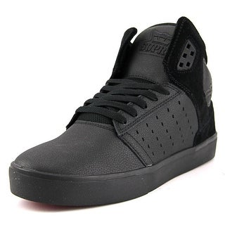 Supra Atom Round Toe Leather Sneakers