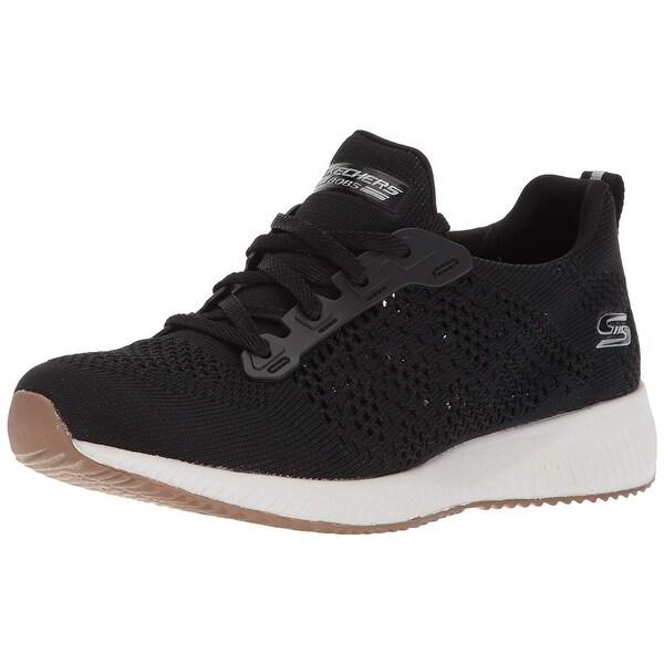 cc3b4fbf39189 Shop Skechers Bobs Womens Squad-Open Weave Sneaker, Black - Free ...