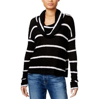 Chelsea Sky Womens Sweater Cowl Neck Striped
