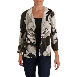 Lafayette 148 Womens Silk Open Front Blazer - XL