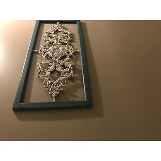 The Gray Barn Wexford Lavender Scroll Panel Wall Decor