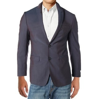 Calvin Klein Mens Two-Button Suit Jacket Wool Extreme Slim Fit - 38s