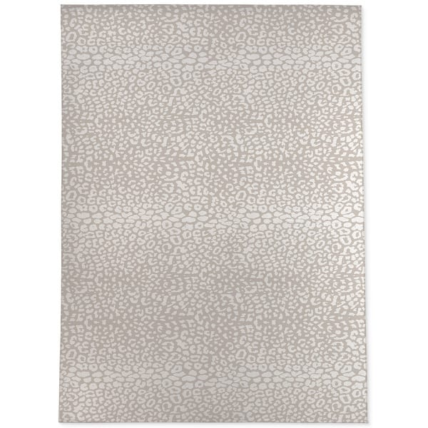 Cheetah Ivory On Taupe Area Rug By Kavka Designs Overstock 31960501