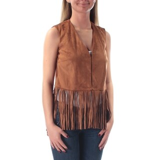 Womens Brown Sleeveless Open Top Size XS