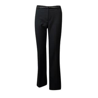 Calvin Klein Women's Belted Pinstripe Dress Pants