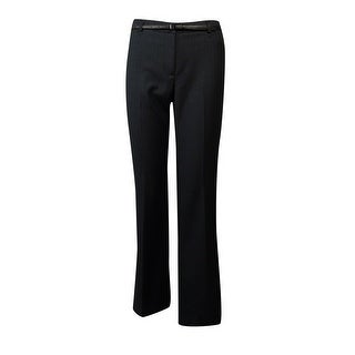 Calvin Klein Women's Belted Pinstripe Dress Pants