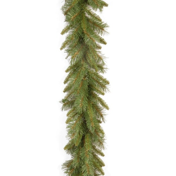 "9' x 10"" Tiffany Fir Artificial Christmas Garland - Unlit - green"