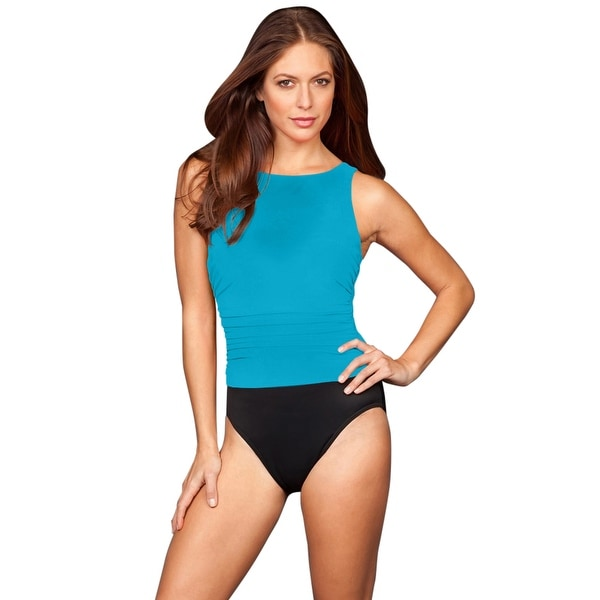 f118fc55d6 Shop Miraclesuit Blue Colorblock DDD-Cup Regatta Underwire One Piece  Swimsuit - Free Shipping Today - Overstock - 17662481