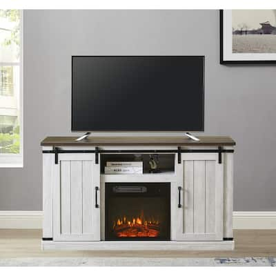 54 in. TV Stand for TVs up to 60 in. with Electric Fireplace