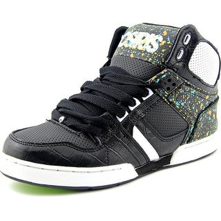 Osiris NYC 83 Youth Round Toe Leather Black Skate Shoe