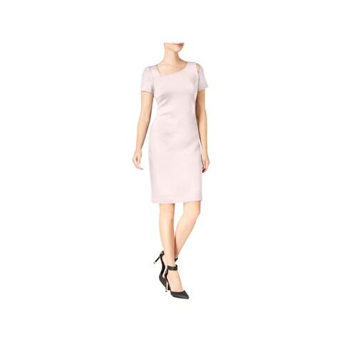 Calvin Klein Womens Wear to Work Dress Cold Shoulder Knee-Length