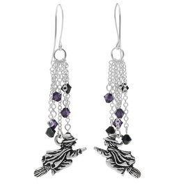 Halloween Earrings - Flying Witch - Exclusive Beadaholique Jewelry Kit