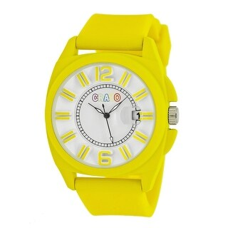 Crayo Sunset Unisex Quartz Watch, Silicone Strap
