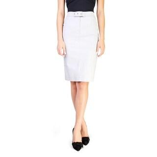 Prada Women's Cotton Skirt Sky Blue - 2