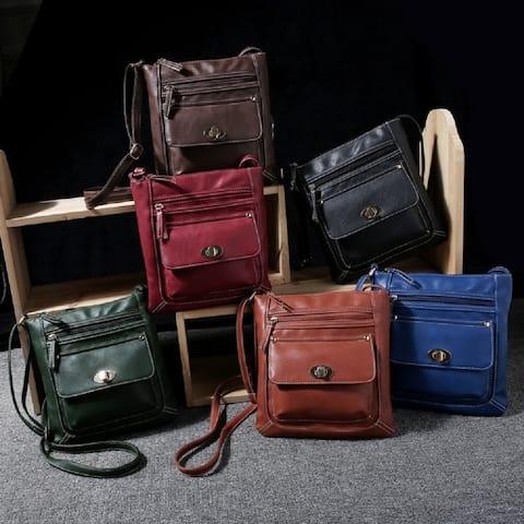 Crossbody Buckle Messenger Bag