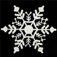 6.25 in. Snowflake Christmas Ornaments, White - Pack of 144