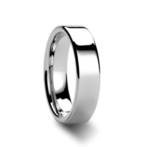 THORSTEN - ATHENA Women's Flat Tungsten Carbide Wedding Band - 6mm