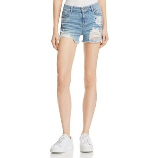 Guess Womens Denim Shorts Destroyed Flat Front - 28
